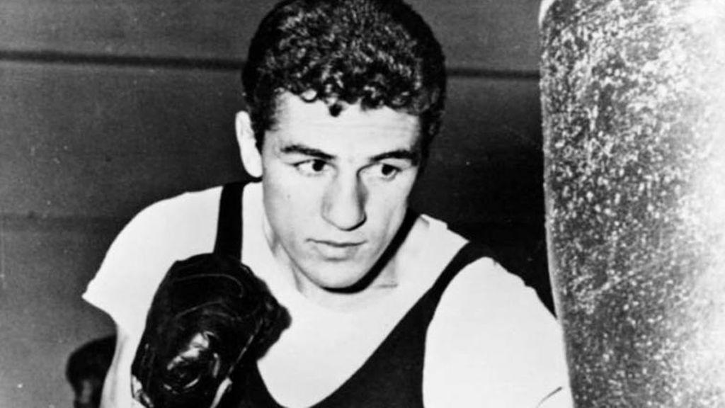 Eder Jofre durante un entrenamiento de boxeo