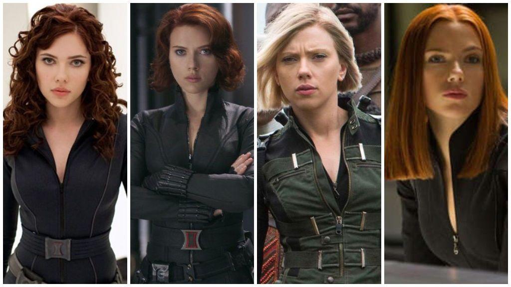 Scarlett Johansson, en sus distintos papeles en las películas de Marvel.