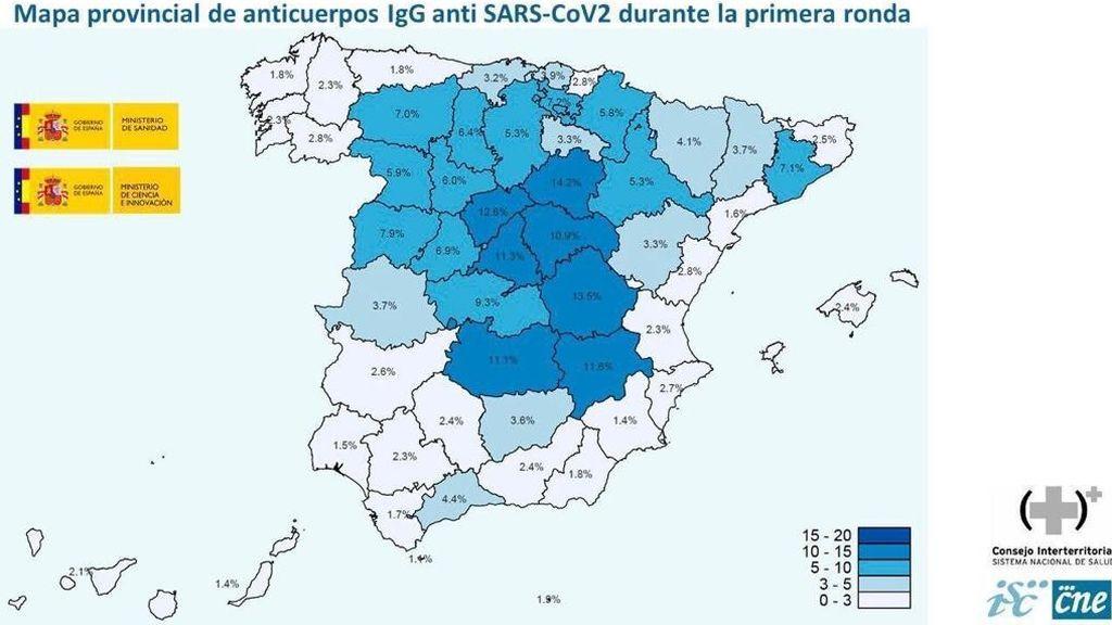 Sólo el 5 por ciento de los españoles está inmunizado contra el Covid-19, según el estudio de seroprevalencia