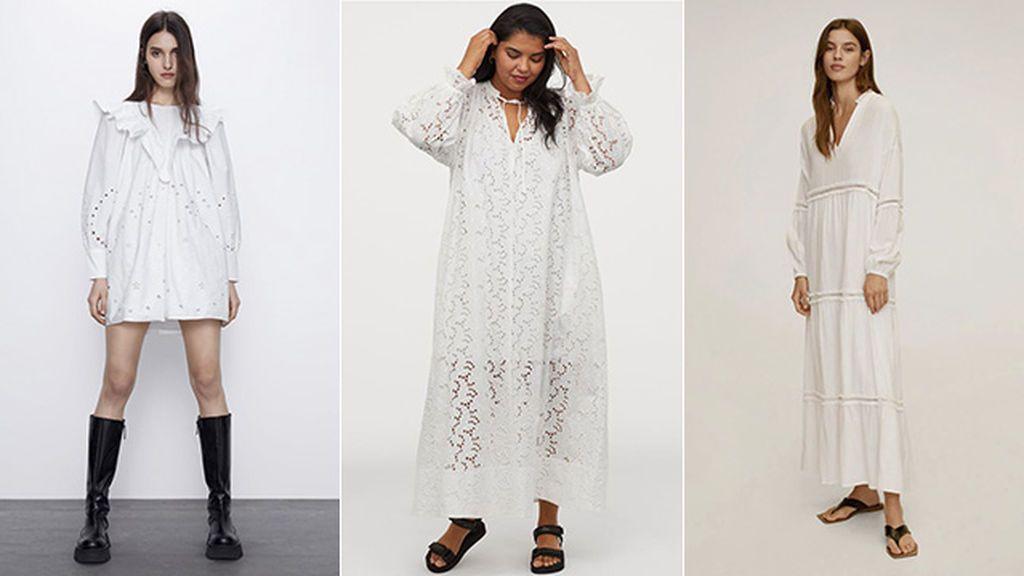 Vestidos de Zara, H & M y Mango