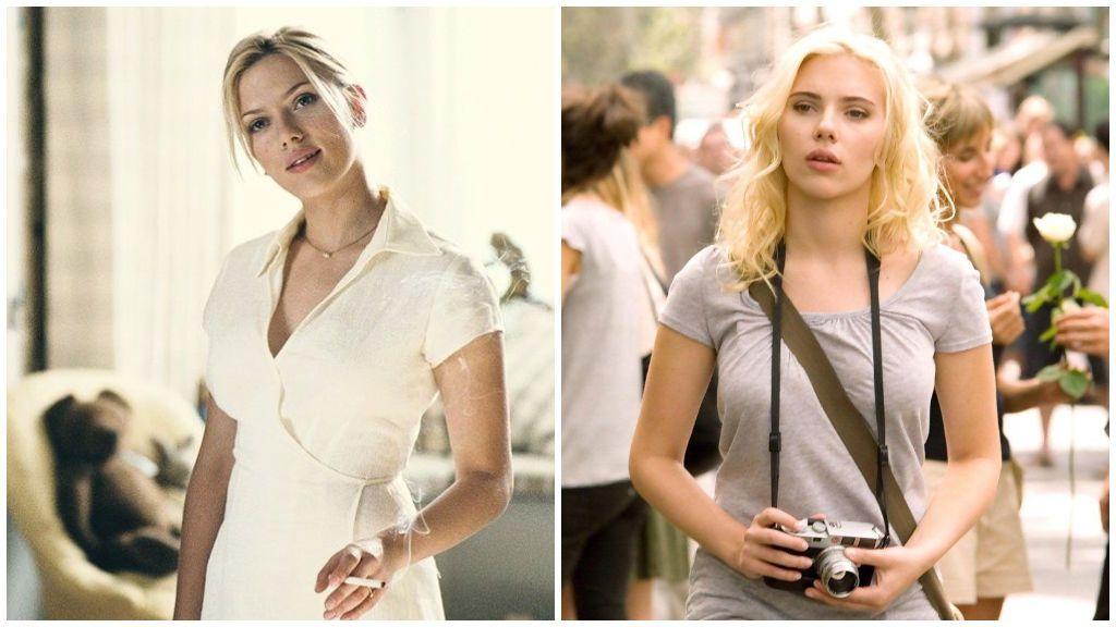 Scarlett, en 'Match Point', y 'Vicky, Cristina, Barcelona'.