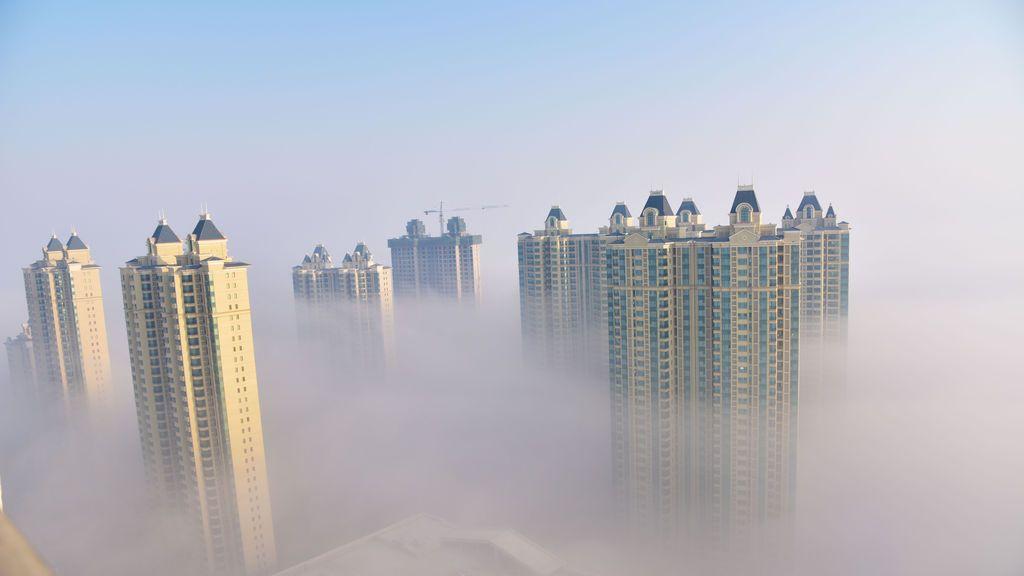Rascacielos en la ciudad de Songyuan, provincia de Jilin
