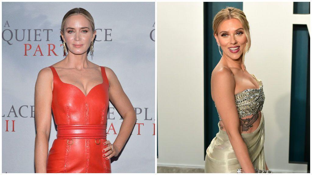 Emily Blunt, a la izquierda, y Scarlett Johansson, a la derecha.