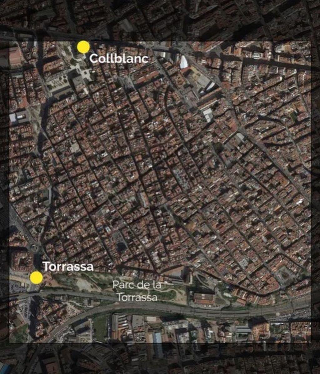 El kilómetro cuadrado más poblado de España, ubicado en Barcelona