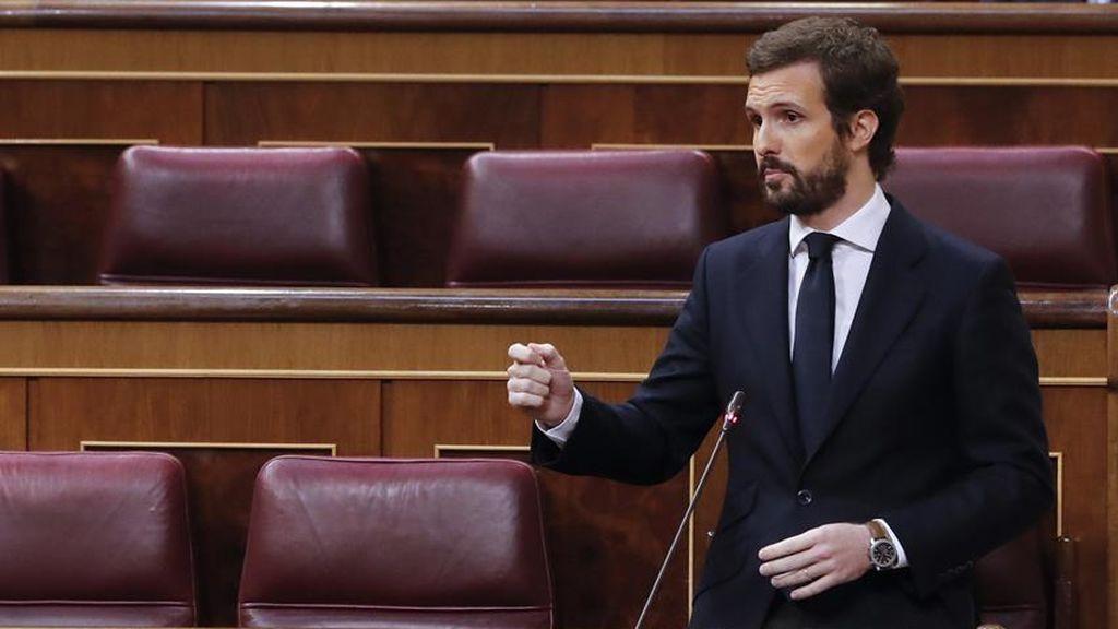 """Casado a Sánchez: """"No le volveremos a apoyar para arruinar España por tercera vez"""""""