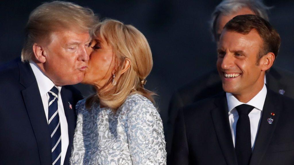 Beso Trump Brigitte Macron