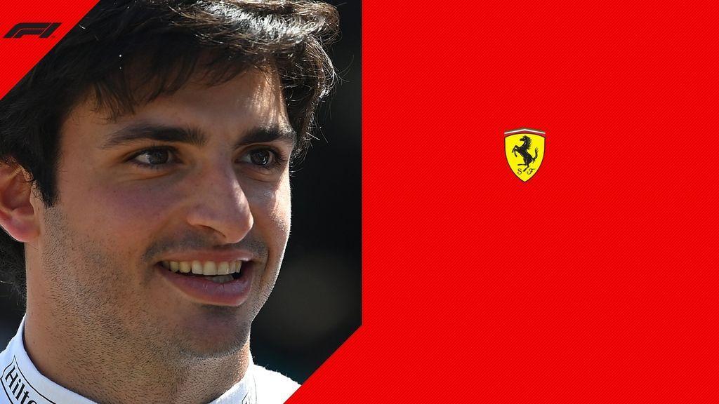 Carlos Sainz, en el anuncio oficial de su fichaje por Ferrari.