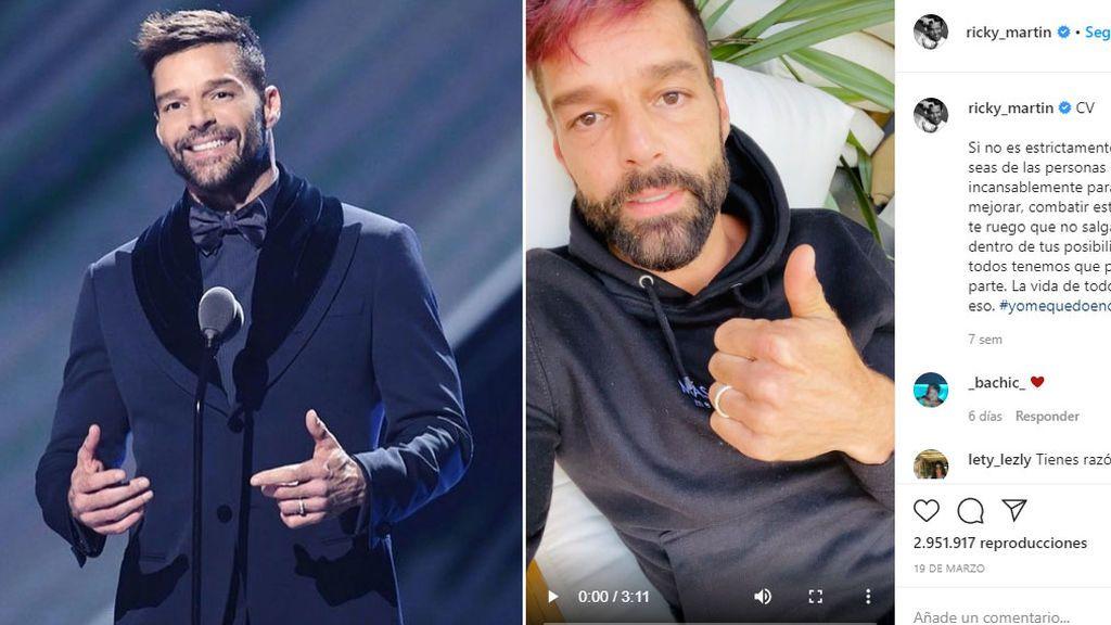 Ricky Martin, antes y durante la cuarentena