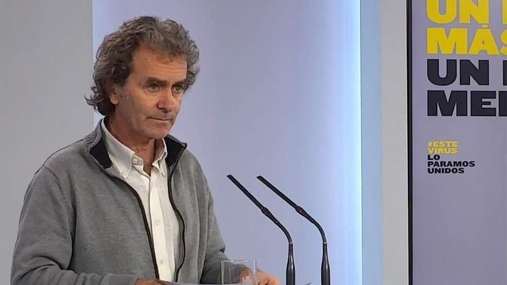 """Fernando Simón aclara que el repunte en la cifra de muertos """"no se puede asociar al cambio de fase"""""""