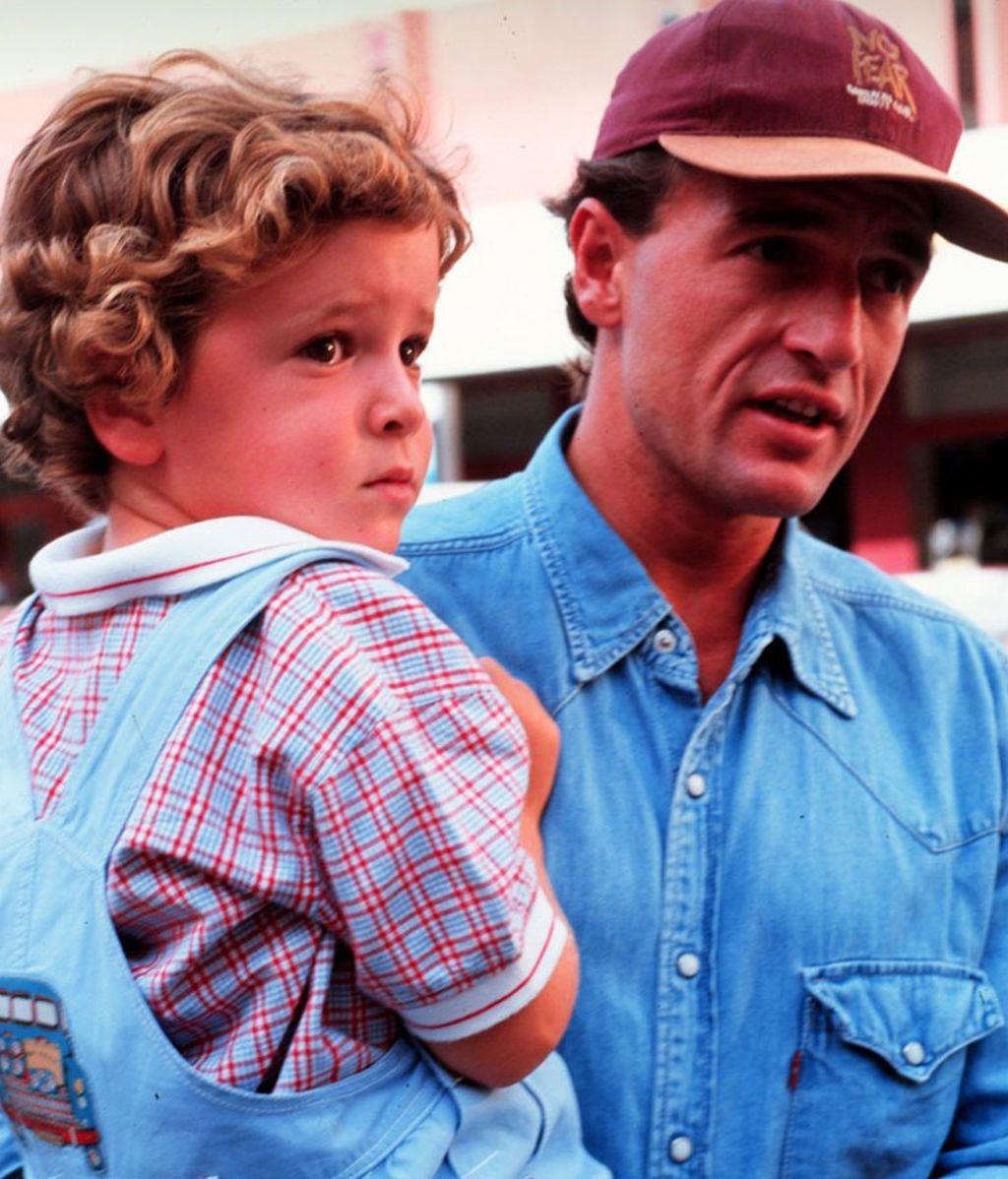 Alessandro Lequio con su hijo, Álex