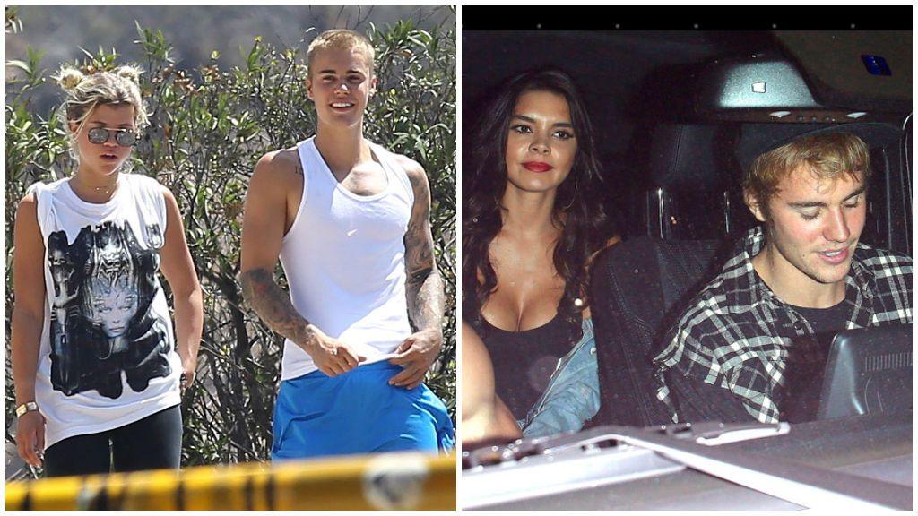 Justin Bieber, junto a Sofia Richie y Paola Paulín.