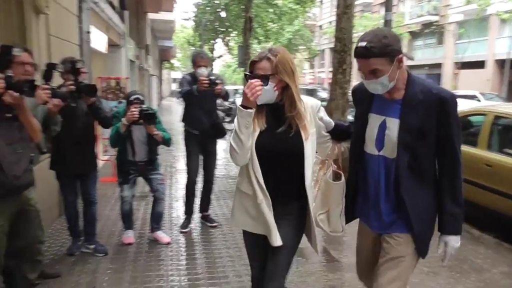 Ana Obregón y Alessandro Lequio, a su llegada al apartamento
