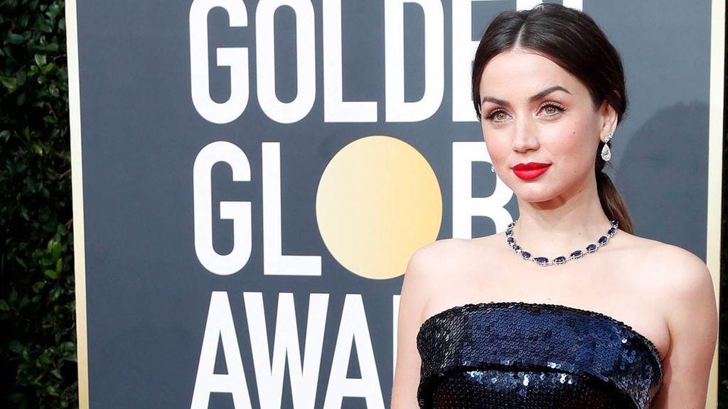 Ana, en la gala de los 'Globos de Oro', donde estaba nominada a Mejor Actriz.