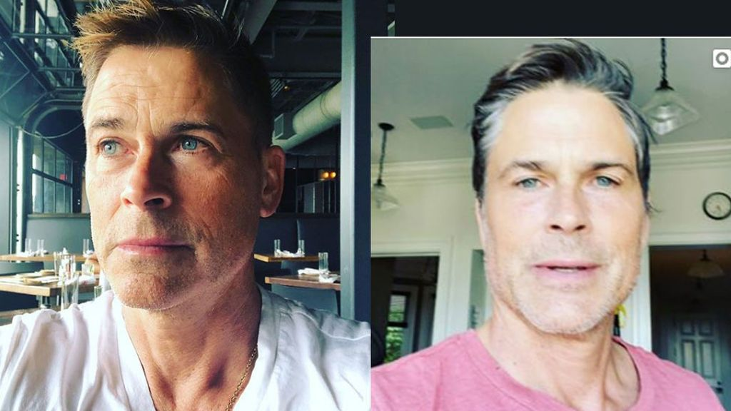 Rob Lowe, antes y durante la cuarentena