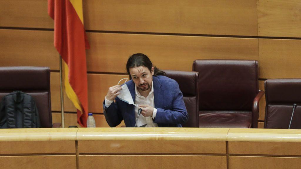 Pablo Iglesias en el Senado