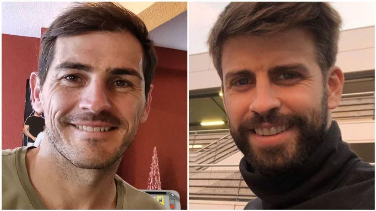 Casillas y Gerard Piqué, en sus redes sociales.