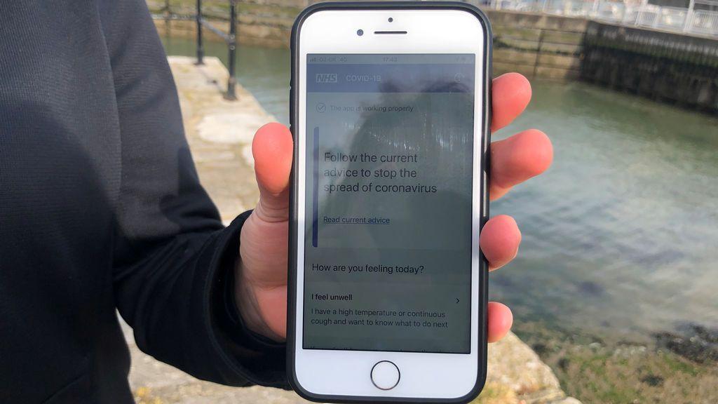 La aplicación desarrollada por el gobierno británico