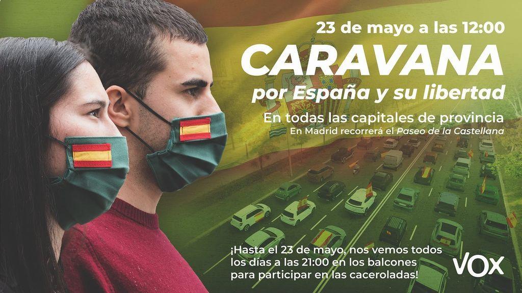 Delegación del Gobierno prohíbe las manifestaciones anunciadas por Vox en Castilla y León para el 23