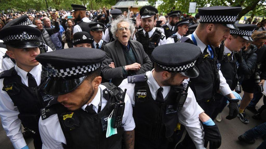 Manifestación en Londres contra el confinamiento