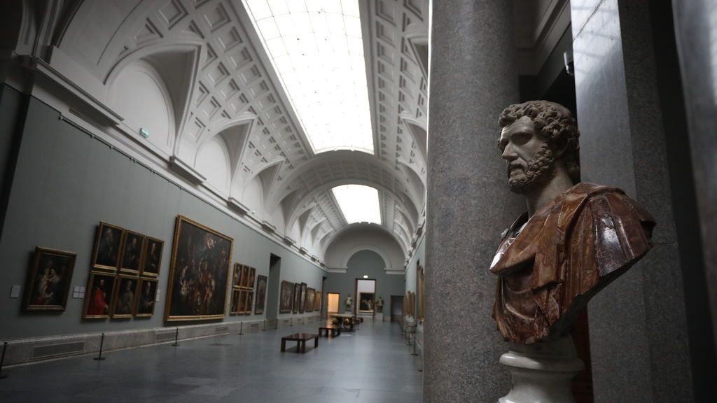 Busto en la Galería Central del Museo Nacional del Prado