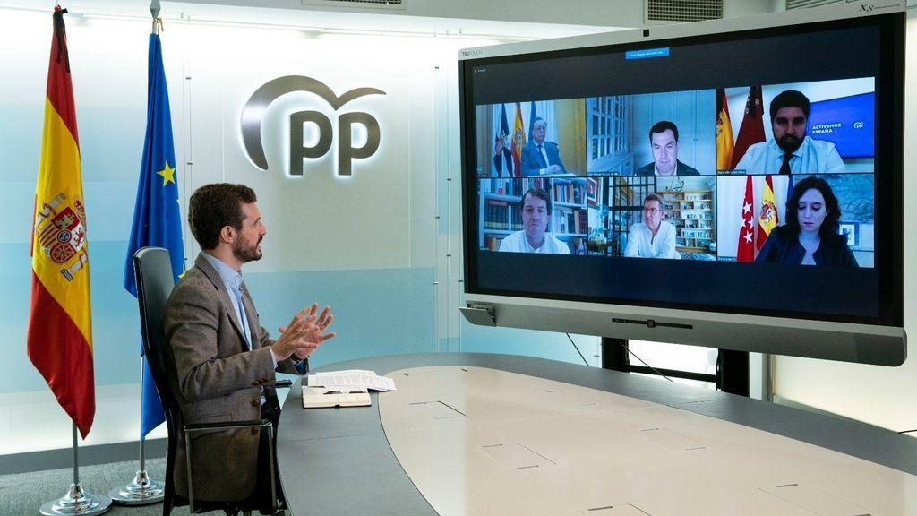 Casado y los presidentes autonómicos del PP rechazan prórroga de un mes del estado de alarma
