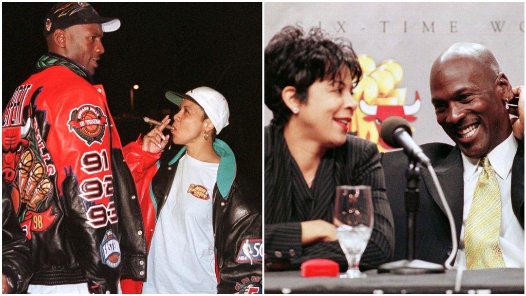 Michael Jordan, junto a su ex mujer Juanita.