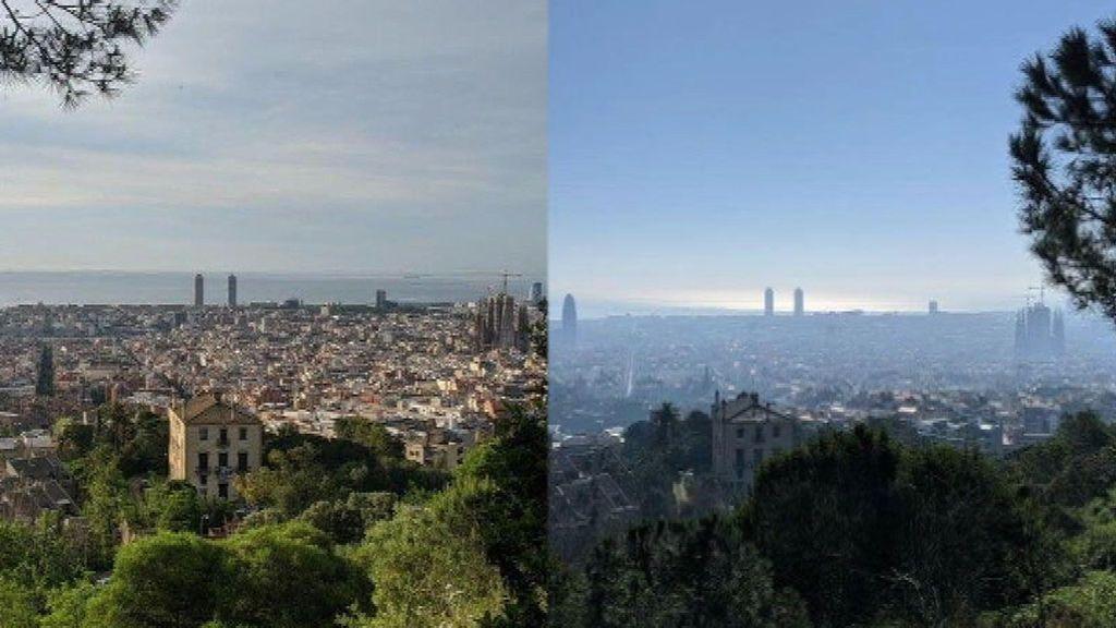Barcelona disfruta del cielo más limpio desde que tiene registro