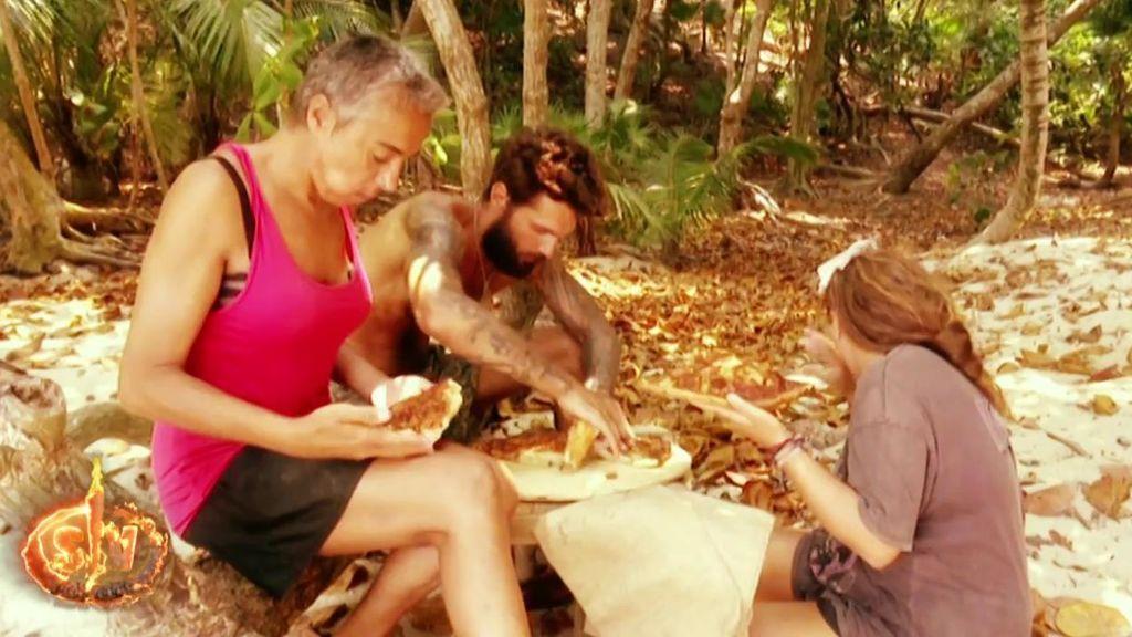 Barranco, Rocío y Ana María deciden comerse la pizza ofrecida por el Pirata Morgan: vota qué habrías hecho ante la tentación