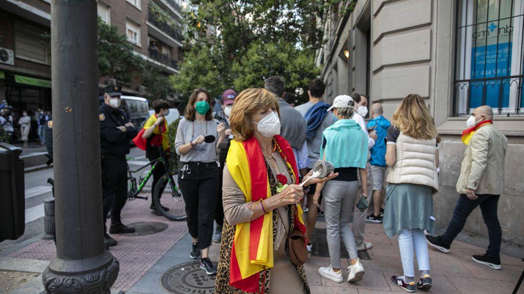 Protesta en el barrio de Salamanca de Madrid