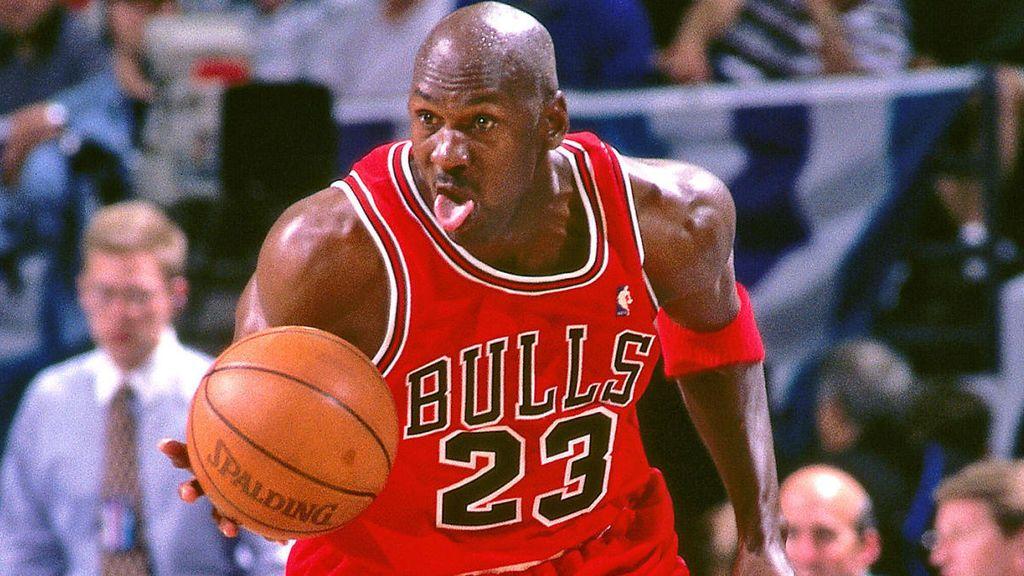 Michael Jordan en un partido de la NBA