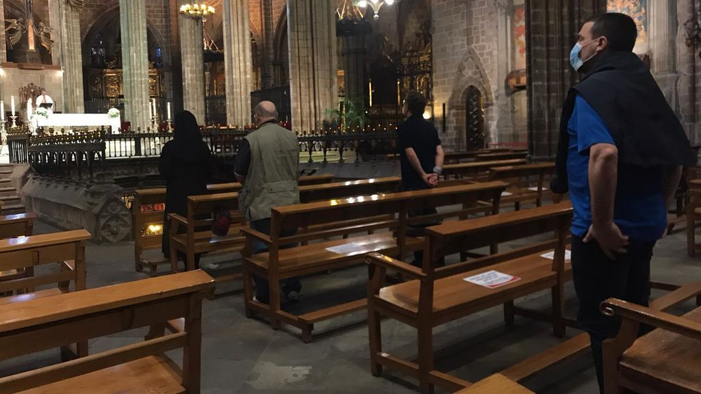 Misa en la Catedral de Barcelona