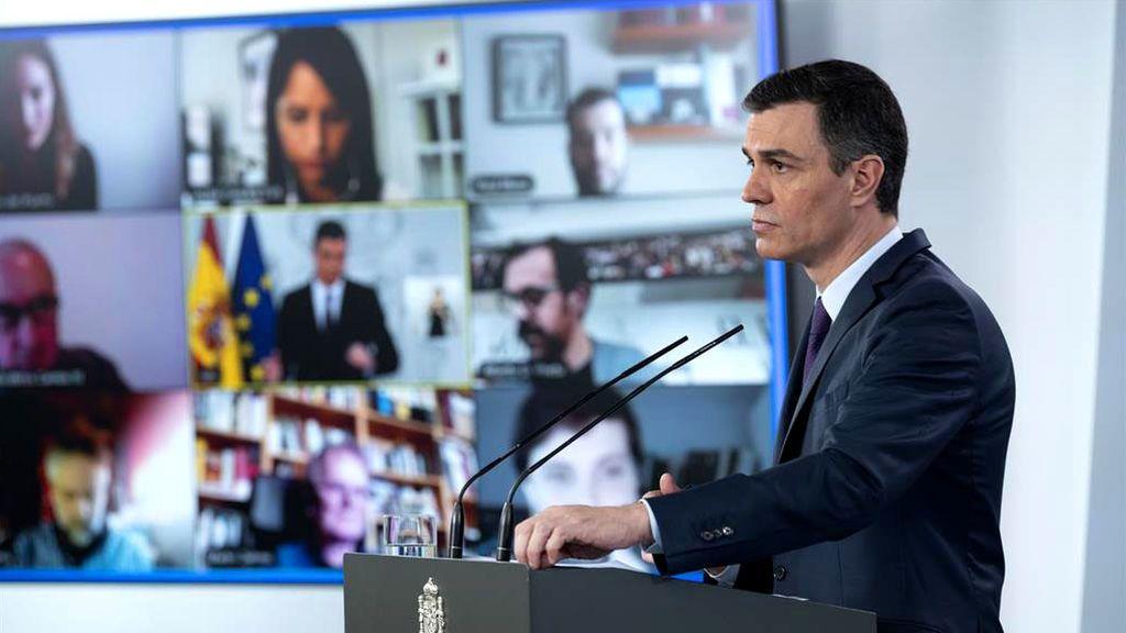 Pedro Sánchez, en una de sus comparecencias por el coronavirus