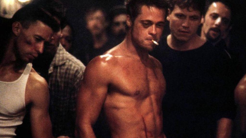 El Brad Pitt más sexy en 'El club de la lucha'.