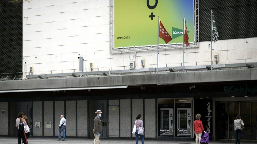 El Corte Inglés, Inditex o H&M abren sus puertas con zonas acotadas de 400 metros cuadrados