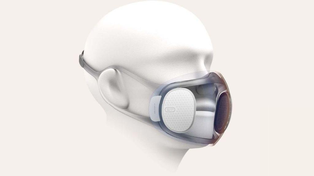 Crean un prototipo de mascarilla que se desinfecta sola, tiene ventilador y se conecta al móvil