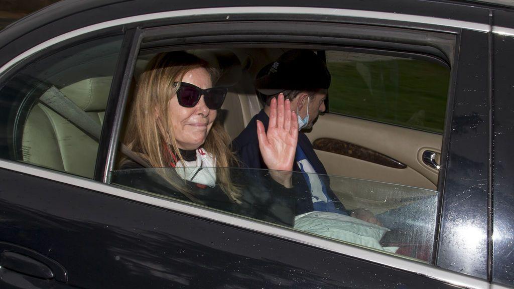 Ana Obregón y Alessandro Lequio, a su vuelta a Madrid