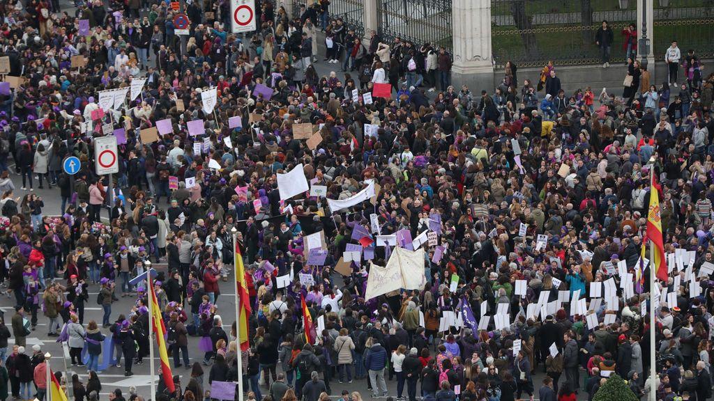 600.979 personas asistieron a manifestaciones del 8M en toda España, sin contar Cataluña, según el Gobierno