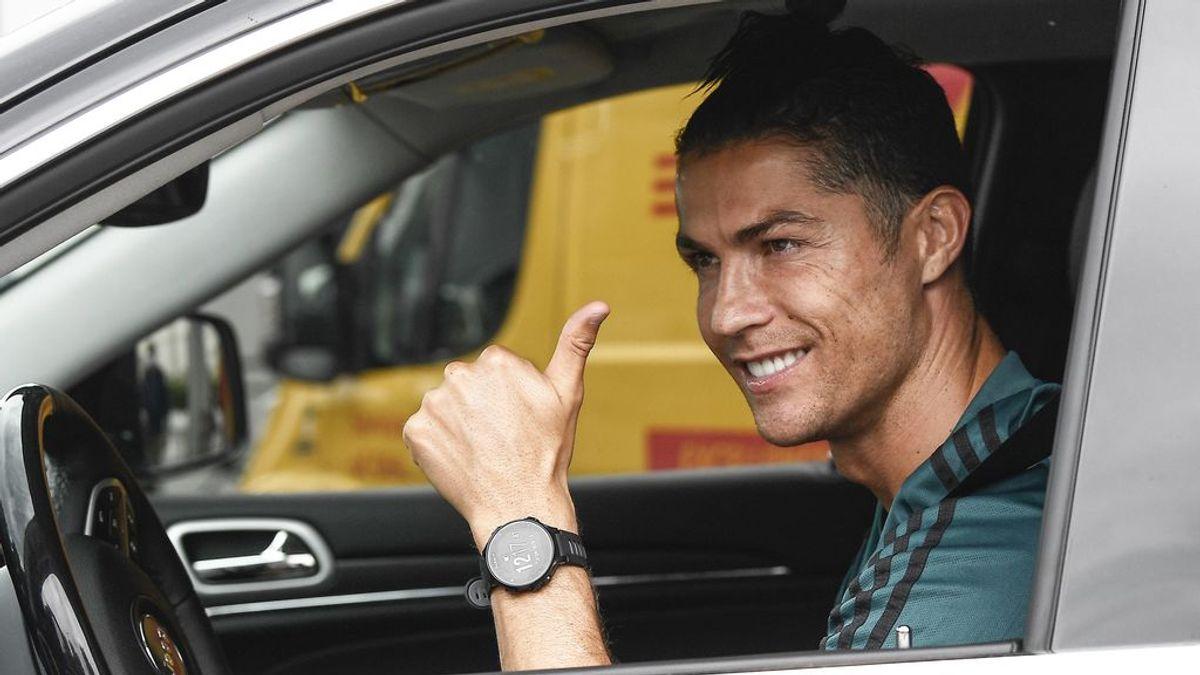 Cristiano Ronaldo, en las instalaciones de la Jvuentus.