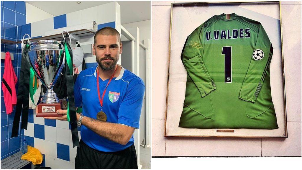 """La única camiseta que Víctor Valdés guarda de toda su carrera deportiva: """"Eternamente agradecido"""""""