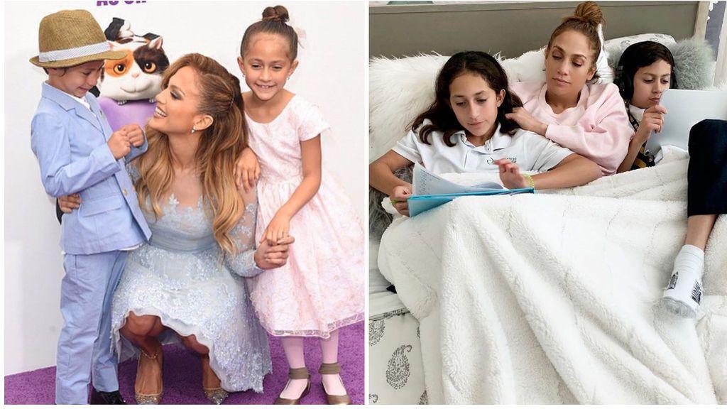 El gran cambio de los mellizos de Jennifer López, una copia exacta de Marc Anthony