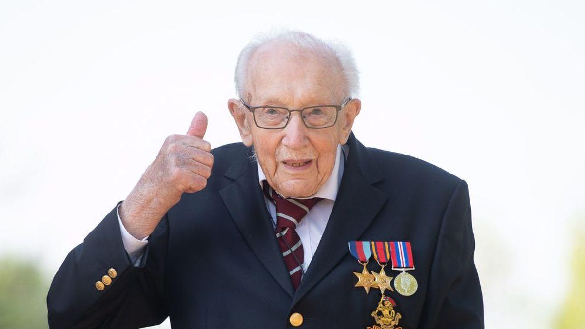 El Capitán Tom Moore será nombrado caballero del imperio británico por la reina Isabel II