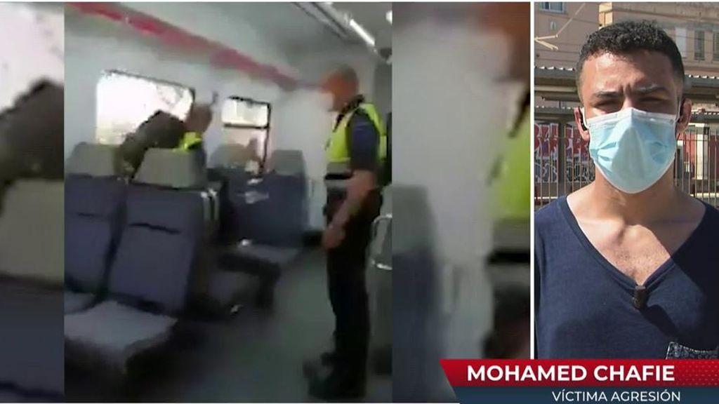 """Mohamed, víctima de una agresión en el tren: """"Me quitaron la mascarilla de un puñetazo"""""""