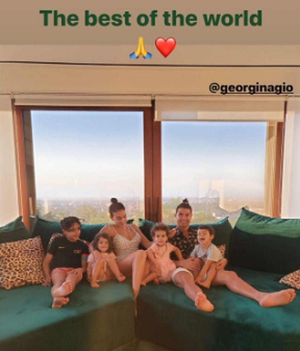 Cristiano y su publicación en Instagram sobre Georgina.