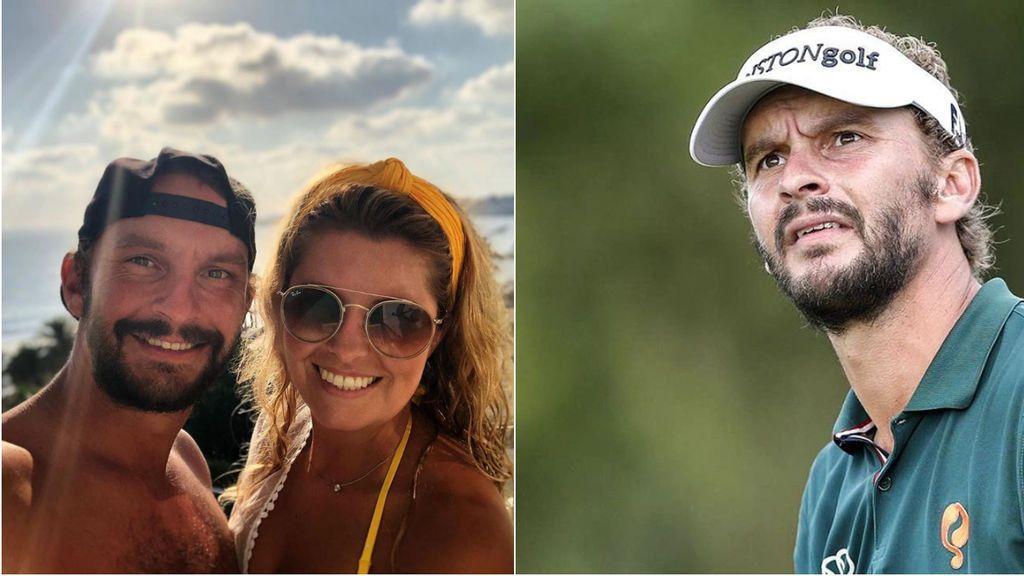 """La mala puntería le juega una mala pasada al golfista Joost Luiten y a su pareja: """"Casi matando a mi novia en el proceso tratando de dominar el distanciamiento social"""""""