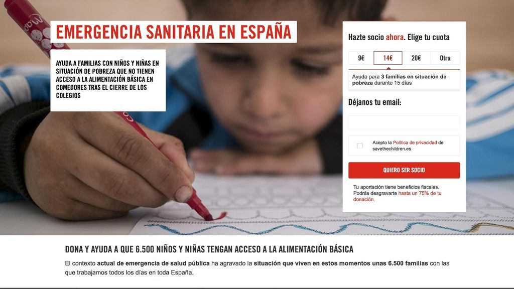 Campaña save the children coronavirus