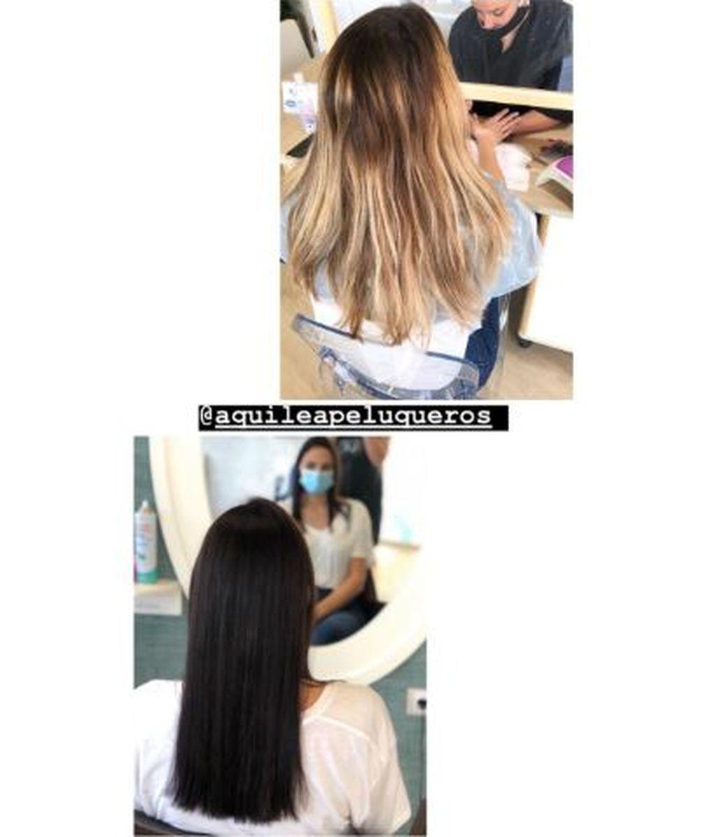 El antes y el después del cambio de look de Irene Rosales