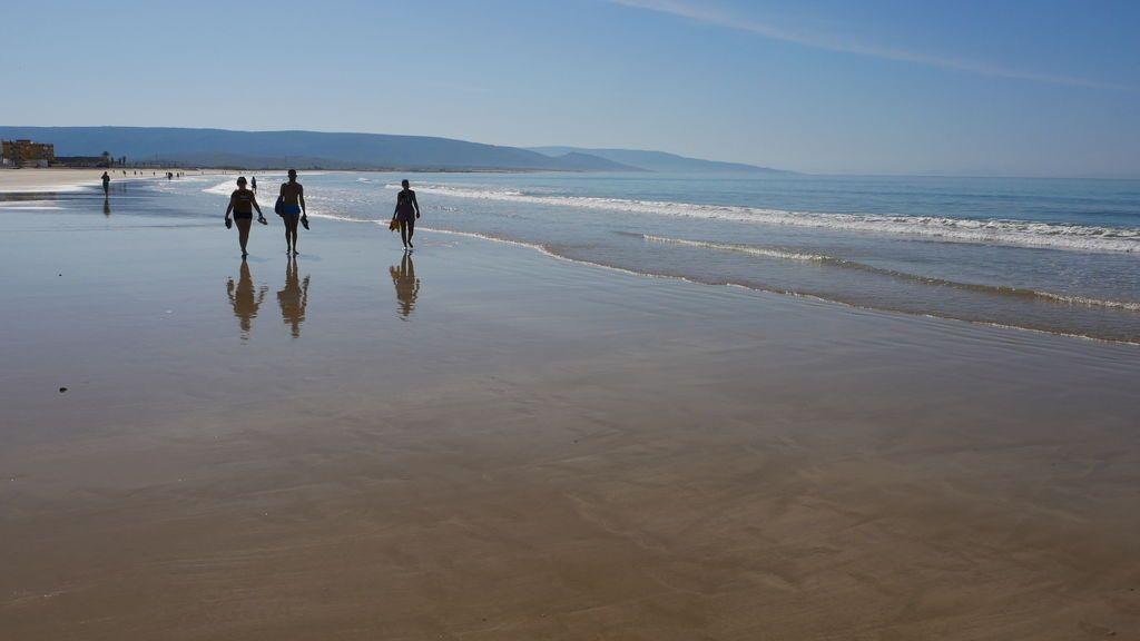 Paseando por la playa en Barbate