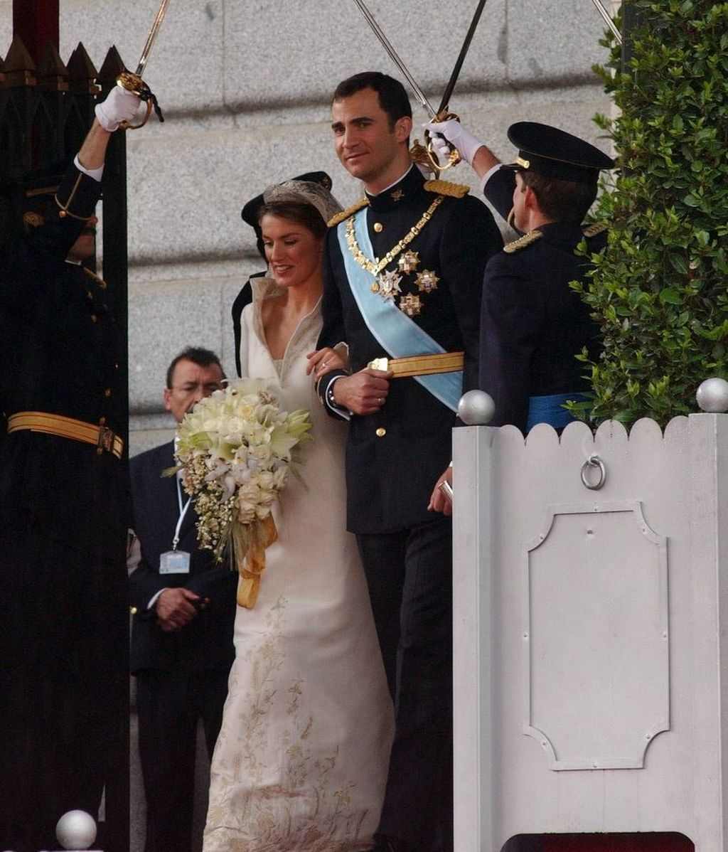 Letizia Ortiz y Felipez VI el día de su boda