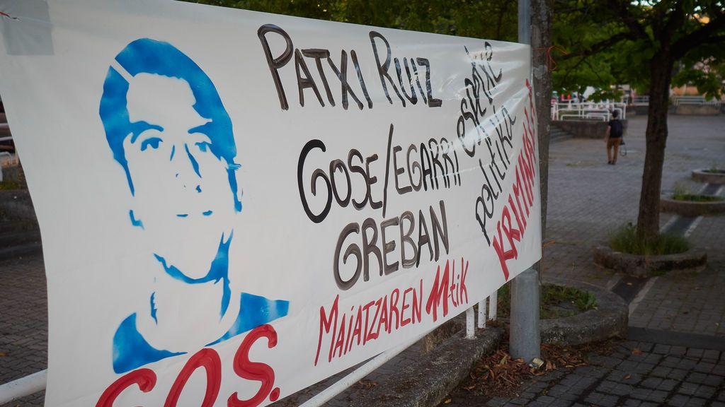 Protesta a favor del preso de ETA, Patxi Ruiz