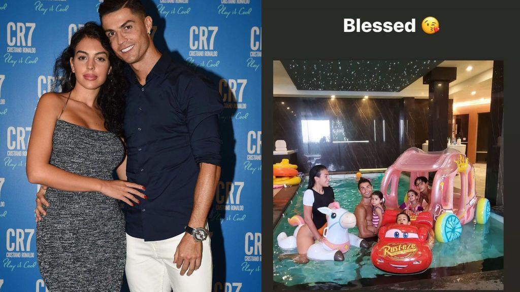 El mejor plan de Cristiano Ronaldo y Georgina: juegos, risas y piscina con sus hijos